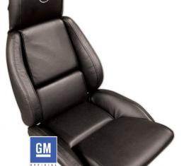 Corvette America 1984-1988 Chevrolet Corvette Embroidered Leather Seat Covers Standard 420320E   59-96 Black