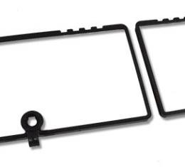 Corvette Rear Compartment Unit Door Frames, Black Paint to Match, Late 1979-1982