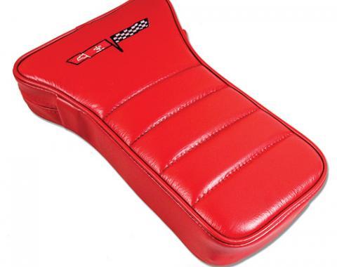 Corvette America 1979-1981 Chevrolet Corvette Center Armrest Embroidered Leather 425024E | 77-81 Red