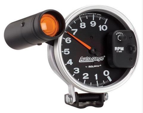 Auto Meter Products 233904 Pedestal Mount Tachometer, 10,000 RPM, Black Face