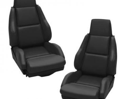 Corvette America 1984-1988 Chevrolet Corvette Mounted Leather Like Seat Covers Standard