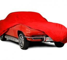 Corvette Car Cover, Indoor, Red, Stretch Satin, 1963-1967