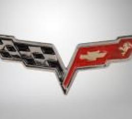 Corvette Lapel Pin, C6 Corvette Crossflags, 2005-2013