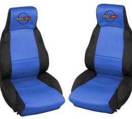 Corvette Neoprene Seat Covers, with Emblem, 1984-1988