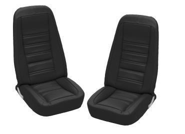 Corvette America 1976-1978 Chevrolet Corvette Embroidered Leather Seat Covers 100% Leather 419820E | 59-96 Black