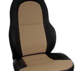 Corvette America 1997-2004 Chevrolet Corvette Custom 100% Leather Seat Covers Standard Black & Oak 43862