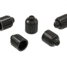 Corvette Valve Stem Cap, Correct Raised Dimple Dill #627, Set of 5, 1960-2004