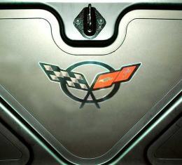 "Corvette Foil Decal, C5 Logo, 10"", 1997-2004"