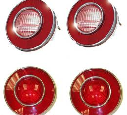 Corvette Taillight Set, With Back-Up Lights, 1974