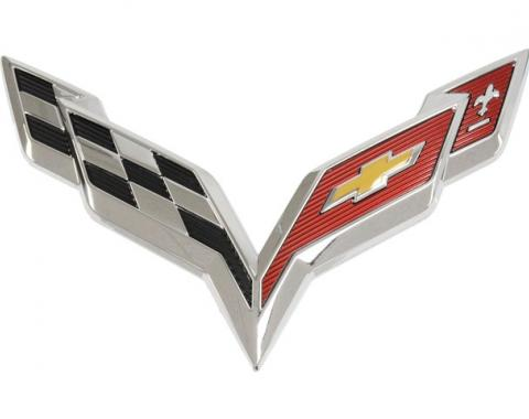 Corvette Rear Bumper & Convertible Waterfall Emblem, 2014-2016