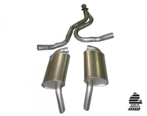 Corvette Exhaust System, Converter Back, 1978-1981