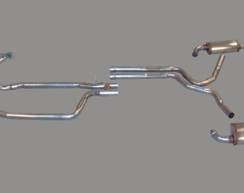 Corvette Dual Exhaust System with Headers and Magnaflow Mufflers, 1980-1981