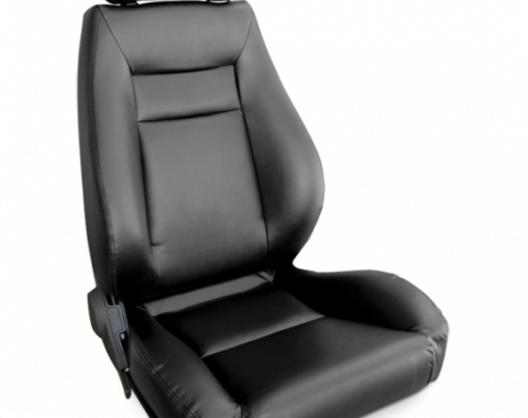 Procar Elite Seat, Right, Black Leather