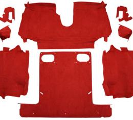 ACC  Chevrolet Corvette Convertible Rear Cutpile Carpet, 1986-1989