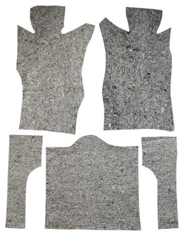 ACC  Chevrolet Corvette Complete Pad Kit Jute Carpet, 1963-1964