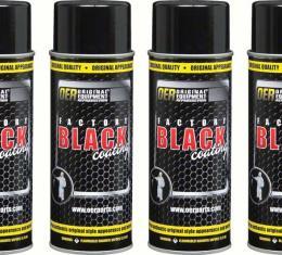 OER Factory Black Coatings Set of Four 16 Oz Aerosol Cans *K89550