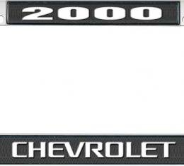 OER 2000 Chevrolet Style #3 Black and Chrome License Plate Frame with White Lettering *LF2230003A