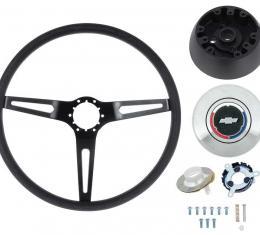 OER 3-Spoke Comfort Grip Steering Wheel Kit For GM Models With Tilt Wheel, Black Spokes W/Black Grip *K620B