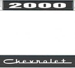 OER 2000 Chevrolet Style #5 - Black and Chrome License Plate Frame with White Lettering *LF2230005A