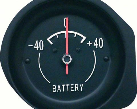 OER 1972-74 Corvette Ammeter Gauge - With White Markings 6473859W