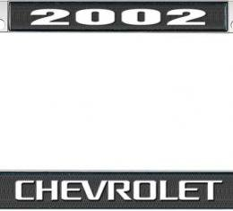 OER 2002 Chevrolet Style #3 Black and Chrome License Plate Frame with White Lettering LF2230203A