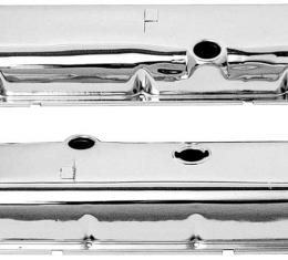OER Chevrolet 396-454 Big Block with Power Brakes Chrome Valve Covers with Oil Drippers VC1212