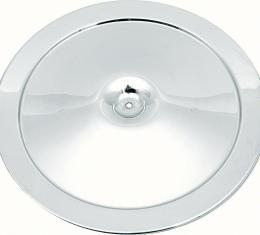 "OER 14"" Open Element Chrome Air Cleaner Lid with Curved Imprint 6421833"