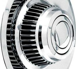 OER Short Chrome Rally Wheel Derby Cap WK1012A