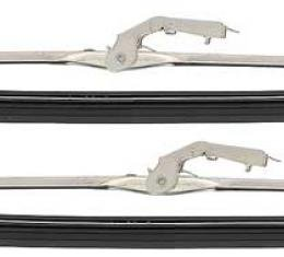 """OER Anco Style Long Frame Wiper Blade Set, With Button Refill Release, 1/4"""" Bayonet, Stainless, 15"""" 2889962"""