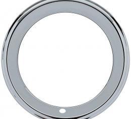 "OER 14"" Chrome 2-1/4"" Deep Step Lip Rally Wheel Trim Ring A9590010"