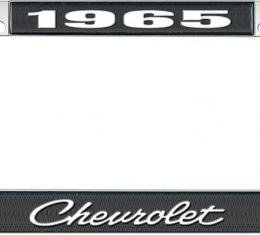 OER 1965 Chevrolet Style #4 Black and Chrome License Plate Frame with White Lettering LF2236504A