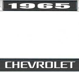 OER 1965 Chevrolet Style #3 Black and Chrome License Plate Frame with White Lettering LF2236503A
