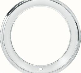 "OER 15"" Stainless Steel 2-3/8"" Deep Step Lip Rally Wheel Trim Ring for Reproduction Wheels 39017081"