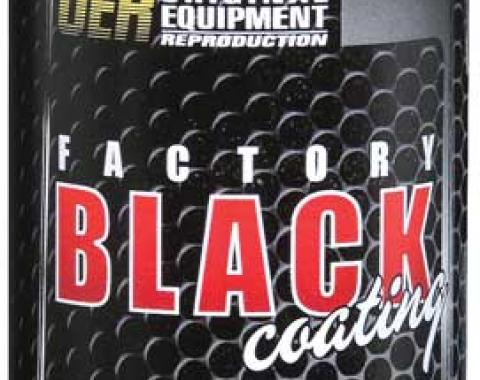 "OER ""Factory Black"" High Gloss Black Engine Paint - 16 Oz Aerosol Can K89543"