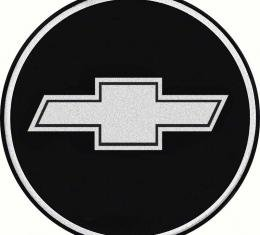 "OER 2-1/2"" Wheel Center Cap Emblem with Chrome Bow Tie Logo on a Black Background K151710BK"