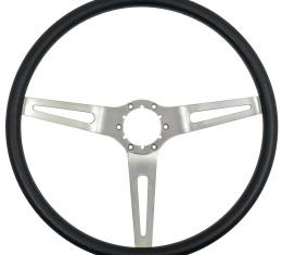 OER 3-Spoke Comfort Grip Steering Wheel, Silver Spokes With Black Grip 3952700