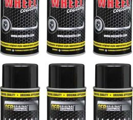 """OER 1970-81 Shadow Gray """"Factory Wheel Coating"""" Wheel Paint Case Of 6- 16 Oz Cans *K89311"""
