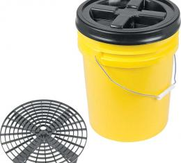 OER Grit Guard Basic Wash System 5 Gallon Yellow Pail with Black Lid K89741