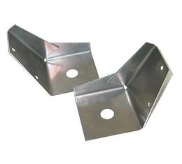 Corvette Rear Body Mount Reinforcements, Aluminum, 1956-1958