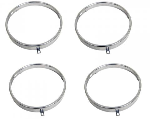 Headlamp Retaining Rings, Set of 4, 1961-1982