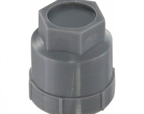 Corvette Lug Nut Cap, Gray, Plastic, 1986-1990