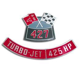 Corvette Decals, Air Cleaner 427/425, 1966