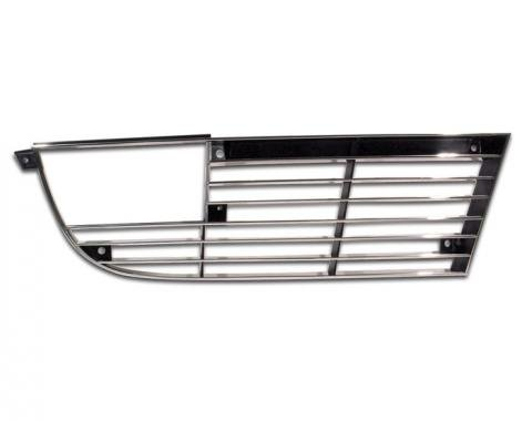 Corvette Front Grille, With Chrome Edge, Right, 1973