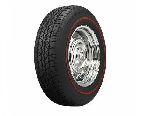 Corvette Tire, 205/75R15, Radial, Red Line, 1967