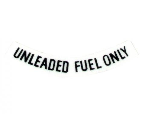 Corvette Decal, Fuel Warning Black, 1975-1977