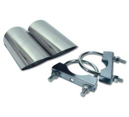 Corvette Custom Exhaust Extensions, Straight with Angled End, 1974-1982