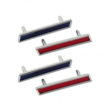 Trim Parts 61 Corvette Front Fender Side Bars, Set 5152