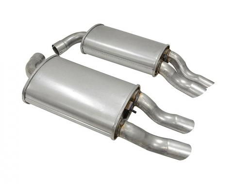 Corvette Mufflers, Aluminized with Tips (1984 Replacement), 1985-1990