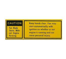 Corvette Decal, Fan Caution, 1979-1980