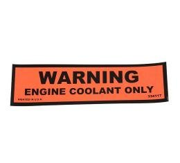 Corvette Decal, Coolant Warning, 1974-1978